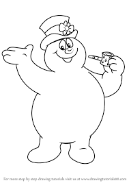 learn how to draw frosty from frosty the snowman frosty the snowman step by step drawing tutorials