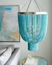 image of bead turquoise chandelier