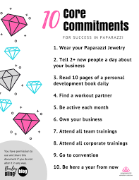 10 core mitments for paparazzi accessories business success