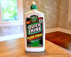 quick shine floor finish for a quick polish