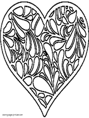 Small Picture Printable Heart Coloring Pages Popular Free Printable Heart