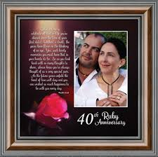 ruby anniversary personalized ruby wedding anniversary picture frame 40th wedding anniversary 10x10 6307 walmart