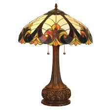 chloe lighting victorian 24 in dark antique bronze table lamp with glass shade