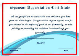 Examples Of Certificates Of Appreciation Wording Impressive Best Thank You Certificates Images On Certificate Sponsorship Of