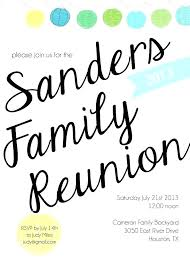 Family Reunion Book Template Family Reunion Invitation Templates Free Aconcept Co