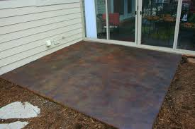 stained concrete patio before and after. Custom Painted Concrete Patio After Stained Before And
