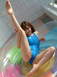 Swimsuit Asian Babe Play In Slime