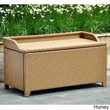 wicker storage bench bench alfresco home outdoor wicker storage bench oxford inside outdoor wicker storage bench