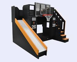 bunk bed with slide. Simple With The Ultimate Basketball Bunk Bed Slide In With