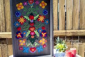 mexican wall decor wall art garden decor removable felt flower collage wall art for wall mexican wall decor