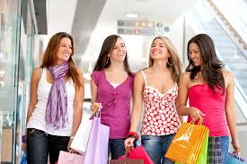 College teens at mall teen