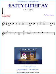 happy birthday oboe sheet