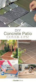 our first patio cover up idea is from this diy concrete patio stain rug is easy and fast they have a great tutorial including the pattern