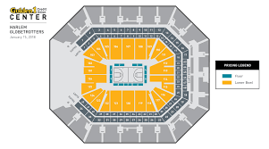 Golden One Seating Chart With Rows Harlem Globetrotters Golden1center