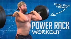 Power Rack Workout Routine 4 Exercises Full Body Training