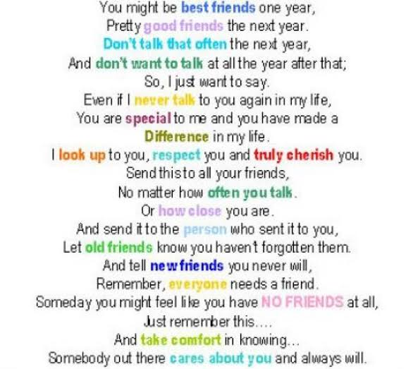 best friends forever poems that make you cry in english