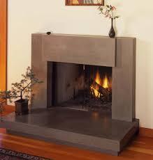 custom made contemporary polished concrete fireplace surround