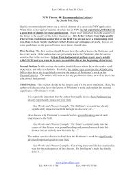Letter Of Recommendation For Immigration Purposes Samples Sample