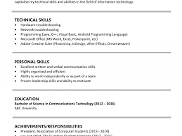 Technical Skills In Resume Communication Skills Resume Phrases Resume Templates 79