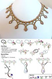 Beading Design Jewelry Com Free Beading Pattern For Framed Crystal Drops Necklace
