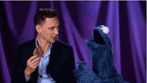 cookie monster tom hiddleston gif. Interesting Cookie Tap To Play GIF In Cookie Monster Tom Hiddleston Gif C