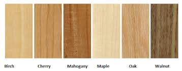 Natural Hardwood Color Chips