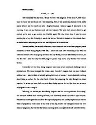 narrative essay on becoming a parent being pregnant original writing personal narrative essays