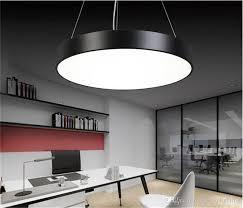 modern minimalism led hanging lights suspension lighting fice led pendant light matte metal round pendnat lighting