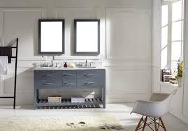 bathroom cabinets double sink. Virtu USA Caroline Estate 60 Double Bathroom Vanity Set In Grey Cabinets Sink M