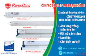 Bộ đèn LED Tube Rạng Đông - Đèn Led Bán Nguyệt Rạng Đông™