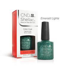 Shellac Emerald Lights Cnd Shellac Uv Gel Nail Polish Emerald Lights 0 25oz