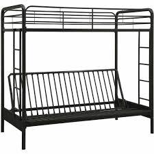 metal bunk bed. DHP-Twin-Over-Futon-Metal-Bunk-Bed-Multiple- Metal Bunk Bed
