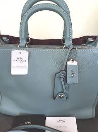 ... spain nwt coach rogue 1941 bag steel blue handbag satchel style 38124  795 2aec5 f9ce5 ...