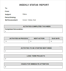 How To Write A Weekly Report Template Weekly Status Report Template Business Form Letter Template