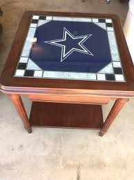 dallas cowboys table cowboys end table mint collectibles in chino hills ca dallas cowboys table lamp dallas cowboys