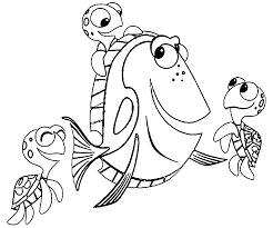 Small Picture Finding Nemo Coloring Pages Wecoloringpage