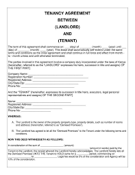Lease Agreement Example 035 Tenancy Agreement Between Company And Tenant 788x1020