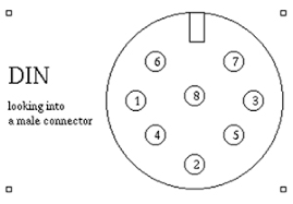 original pre amp connection to a modern iso block stereo lead note that the pinout numbers at right in the image above are arbitray based on a numbering convention i found online