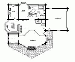 Log Home Floor Plan Homestead Large Cabin Plans Main  LuxihomeLarge Log Cabin Floor Plans