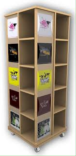 T Shirt Display Stand Beech effect bookcase tshirt display store fixture tee shirt 95