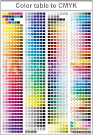 Adobe Cmyk Color Chart Color Table Pantone To Cmyk Color Print Test Page