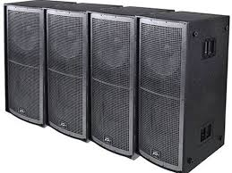 concert speakers system. 4 pk peavey qw218 concert subwoofers enclosure touring and install speakers sub system a