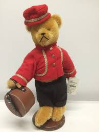 Teddy Bear Display Stands This is a certified original SCHUCO Bellhop messenger bear which 90