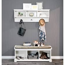 Epoch Design Epoch Design Brookwood Bench And Wall Unit White