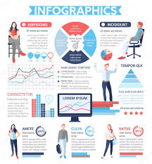 Informational Poster Sample Layout People Infographics Poster Brochure Cover Template