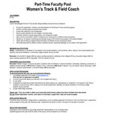 track coach resumes