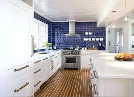white kitchen blue backsplash blue white kitchen with blue subway tile backsplash
