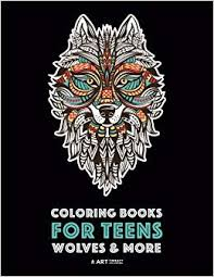 Coloring Books For Teens Wolves More Advanced Animal Coloring