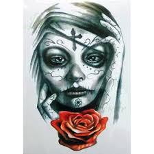 Waterproof Temporary Tattoo Sticker Big Size Enchantress Witch Women Mexican Skull Tatto Flash Tatoo Fake Tattoos For Girl