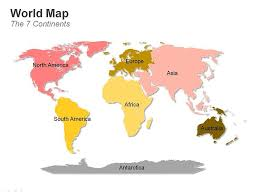 Map Of The World For Powerpoint Editable Powerpoint Map World Map 7 Continents Editable
